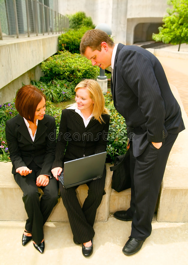 Download Business Man Looking At His Coworker Stock Image - Image: 6111567