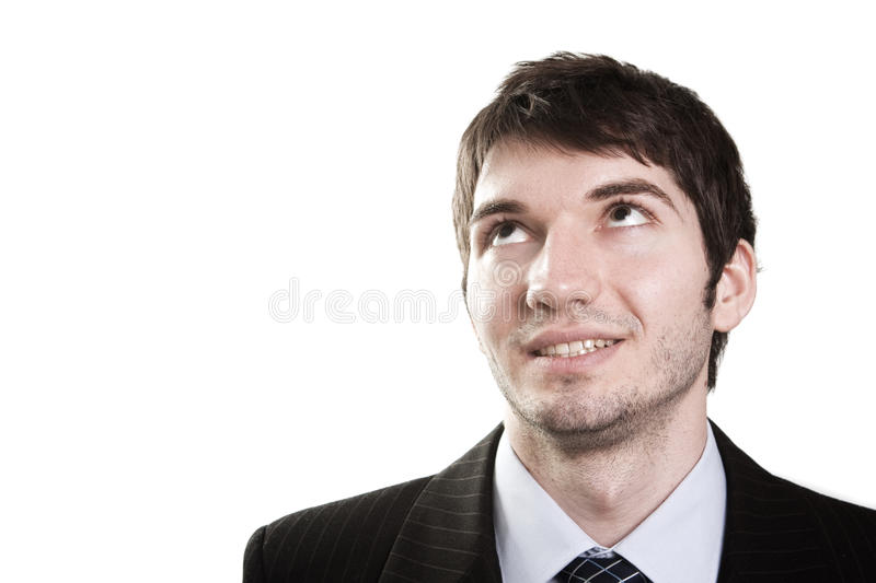 Download Business Man Looking Up For Inspiration Stock Photo - Image: 15963698