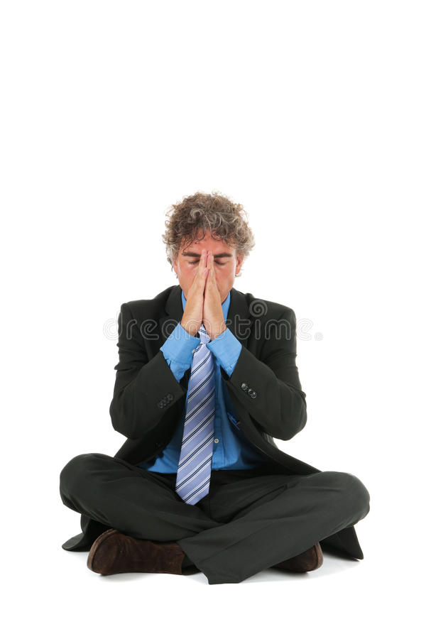 Download Business man in meditation stock photo. Image of corporate - 26646842