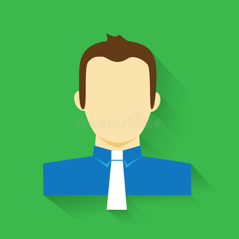 Download Business Man Minimalistic Portrait Icon Stock Illustration - Image: 40243294