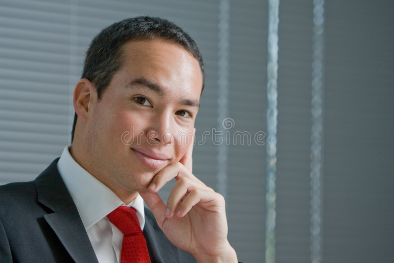 Download Business Man With Mobile Hand Cell Phone Stock Image - Image: 7657357