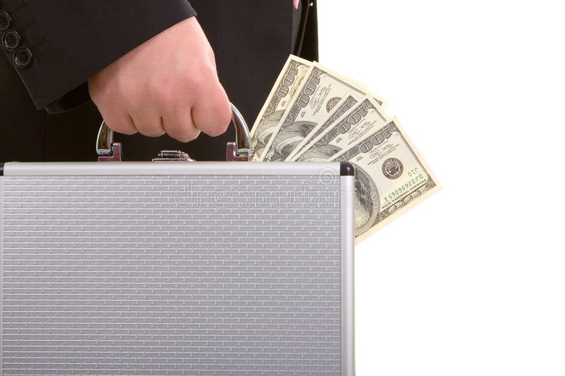 Business man and money stock photos