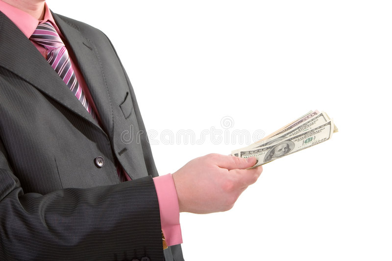 Business man with money royalty free stock photography