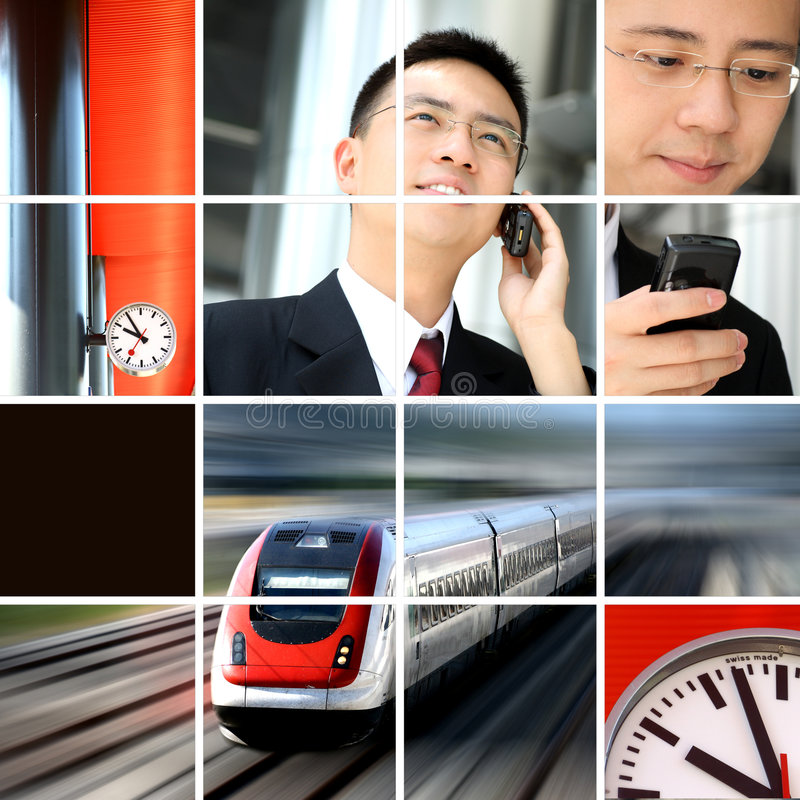 Business man on the move. Or traveling royalty free stock photo