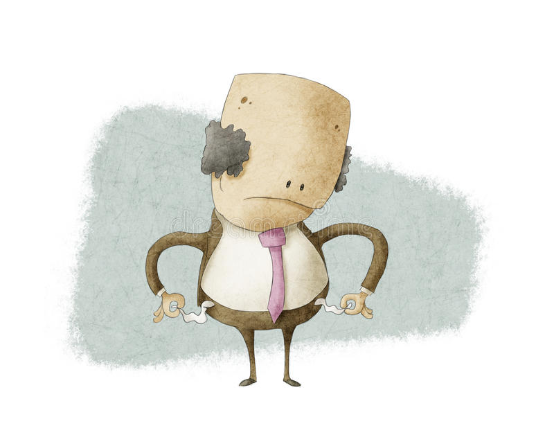 Business man with no money vector illustration