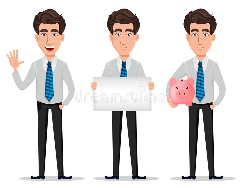 Business man in office style clothes royalty free illustration