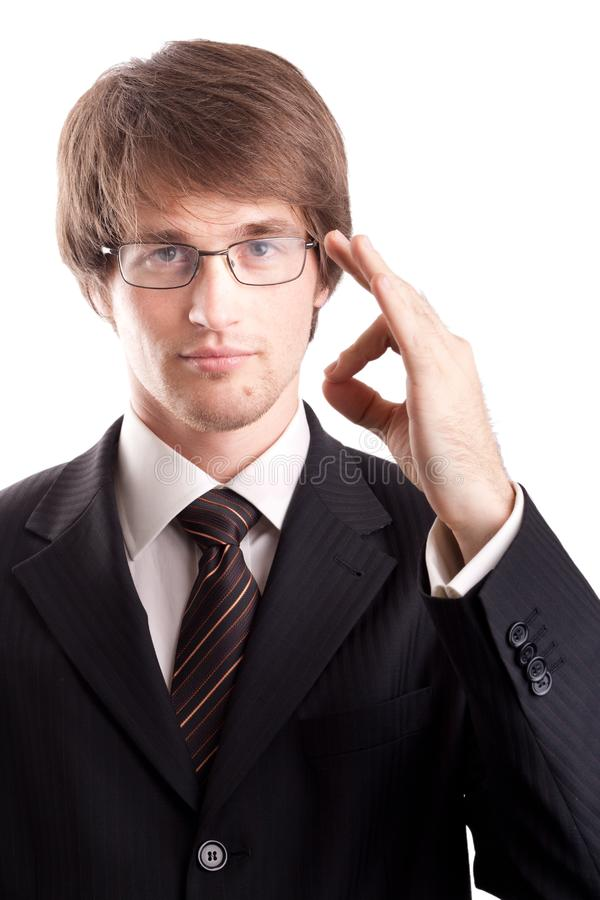 Download Business Man With Okay Sign Stock Photo - Image of certainly, correctly: 17356802
