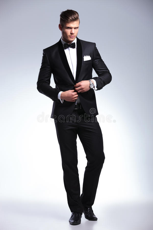 Business man opening his jacket royalty free stock images