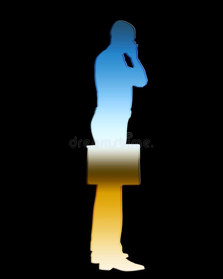 Download Business Man Outline 2 stock illustration. Illustration of posing - 5363034