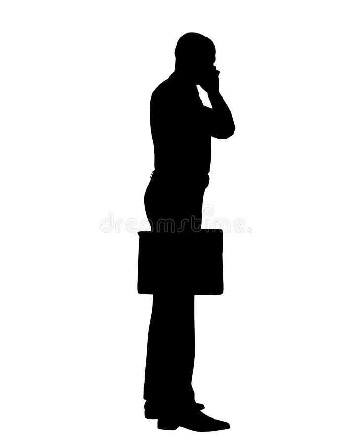 Business Man Outline royalty free stock photo