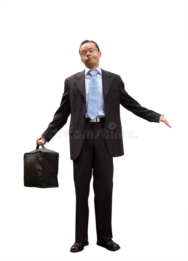 Business man with a peculiar expression