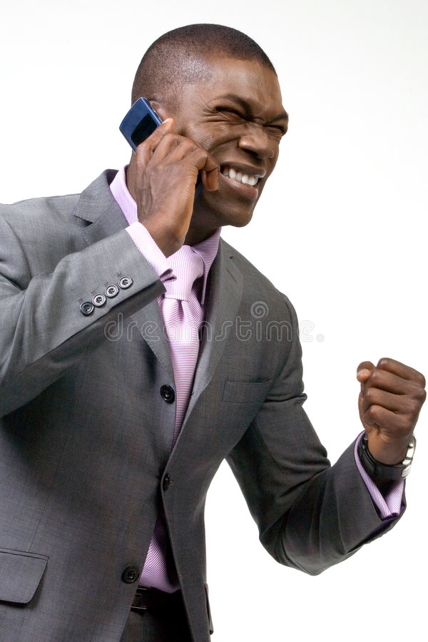 Download Business man on the Phone stock photo. Image of happy - 1723180