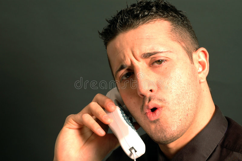 Business man on phone 2435 royalty free stock images