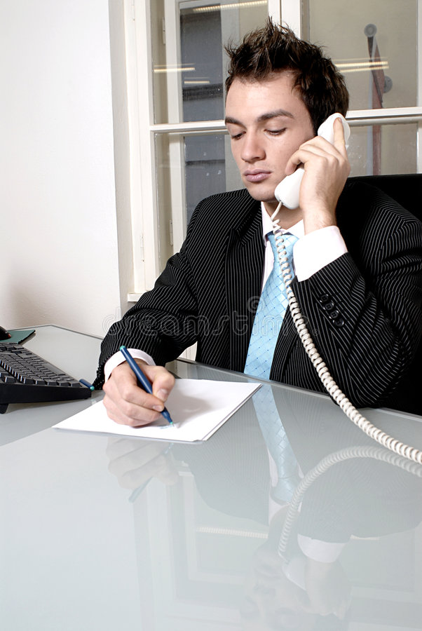 business man on phone royalty free stock photography