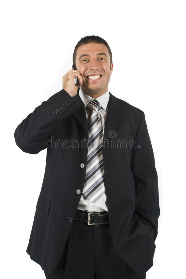 Download Business man on the phone stock photo. Image of formal - 6841020