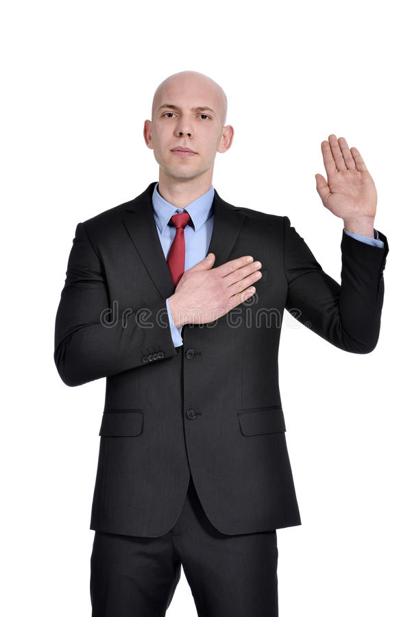 Business man pledging stock photos