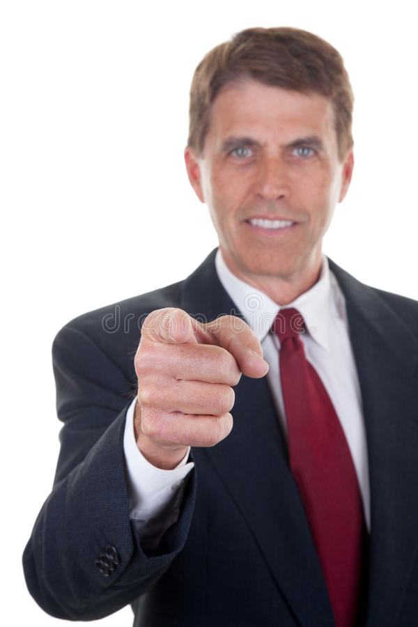 Download Business Man Pointing Royalty Free Stock Image - Image: 19359176