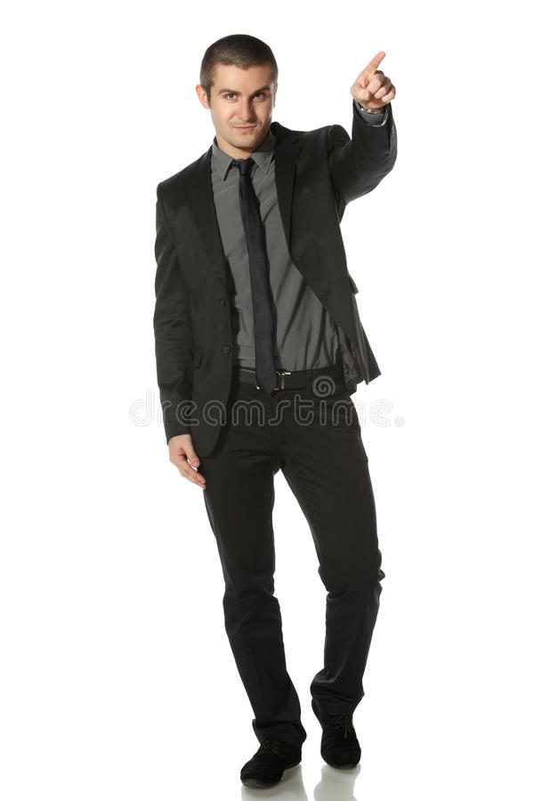 Business Man Pointing At Copy Space Stock Image