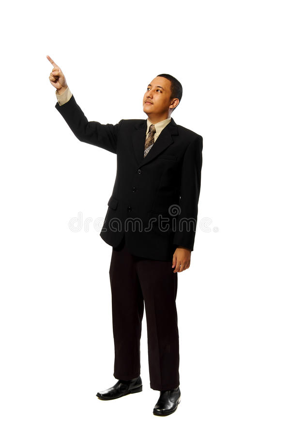 Download Business Man Pointing Something Stock Photo - Image: 13304390