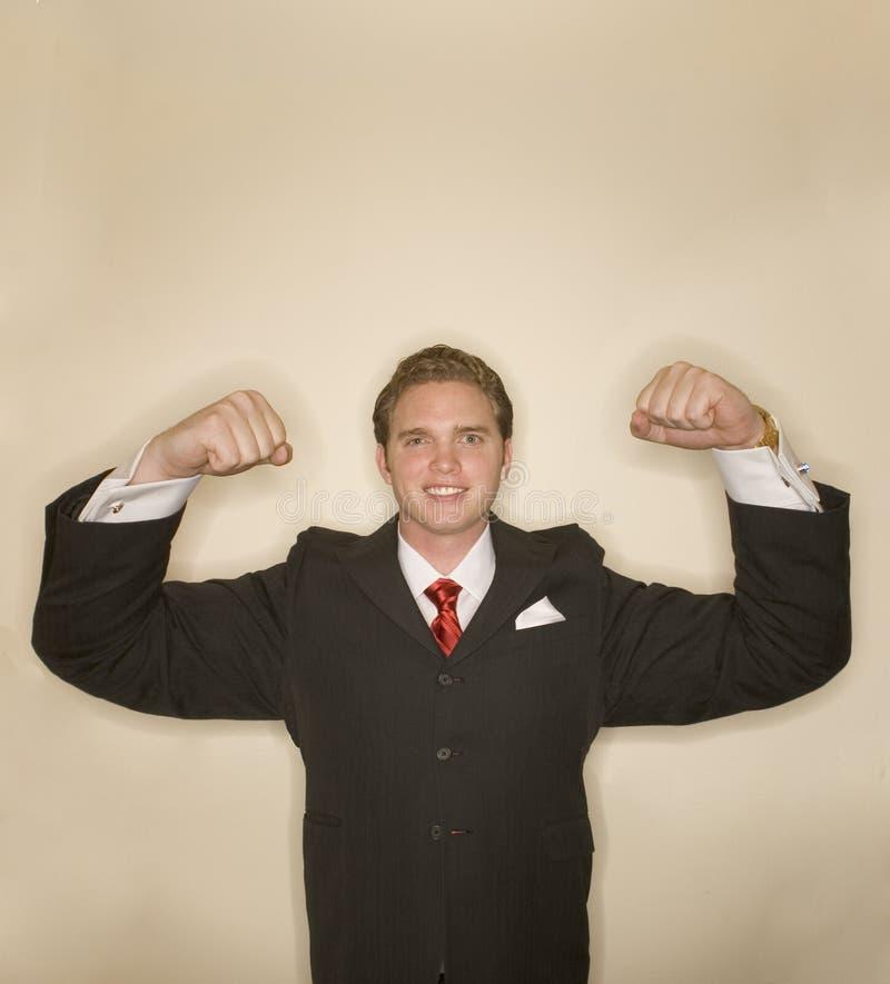 Business man power pose 7 royalty free stock photos