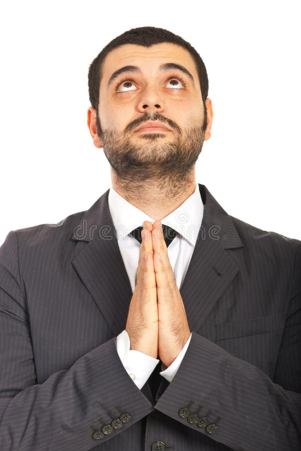 Download Business Man Praying And Wishing Stock Image - Image of male, look: 28197817