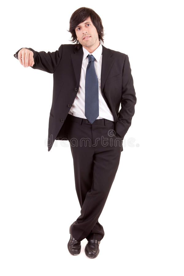 Business man presenting your product stock image