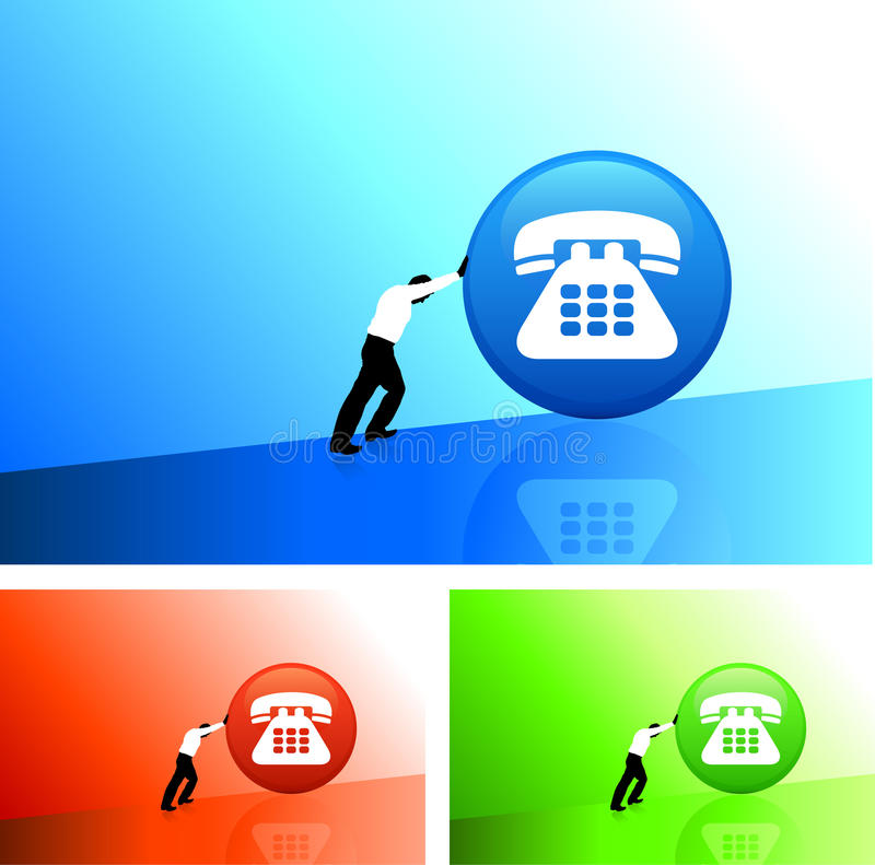 Download Business man pushing for stock vector. Image of buttons - 12292453