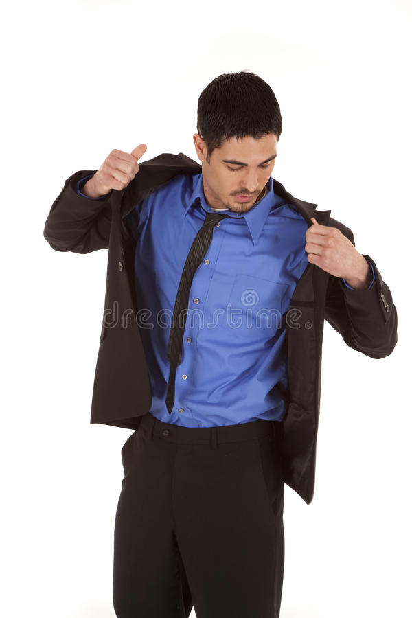 Business Man Put On Jacket Stock Photo. Image Of Latin