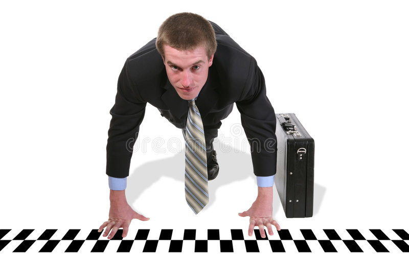 Business Man Race royalty free stock photo