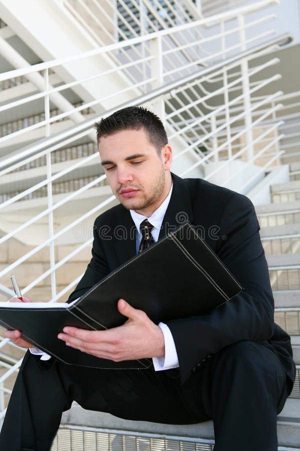 Business Man Reading royalty free stock image