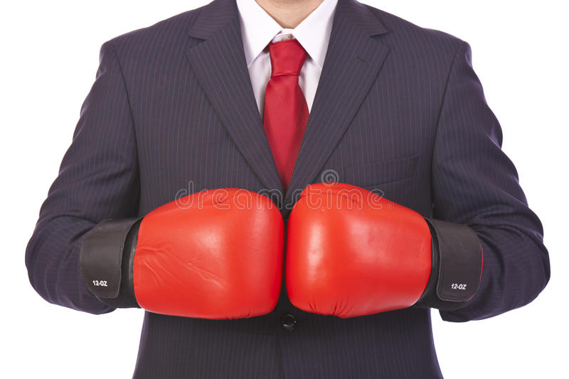 Business man ready for a fight stock images