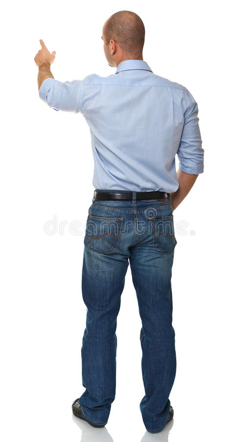 Download Business man rear view stock photo. Image of casual, looking - 16571022