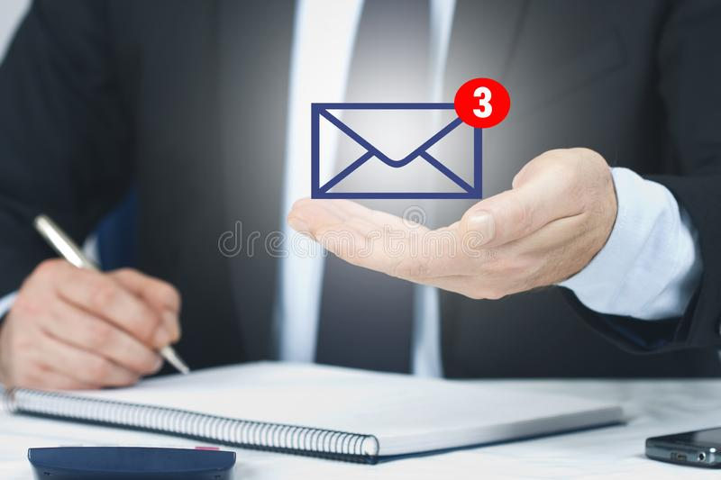 Email and messages stock photo