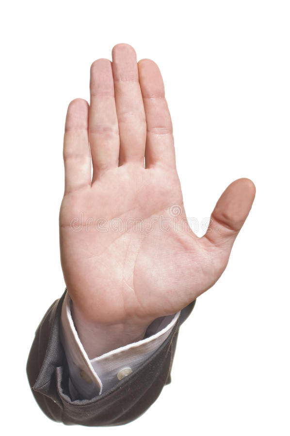 Business Mans Hand Make Stop Symbol Stock Photo Image Of Male