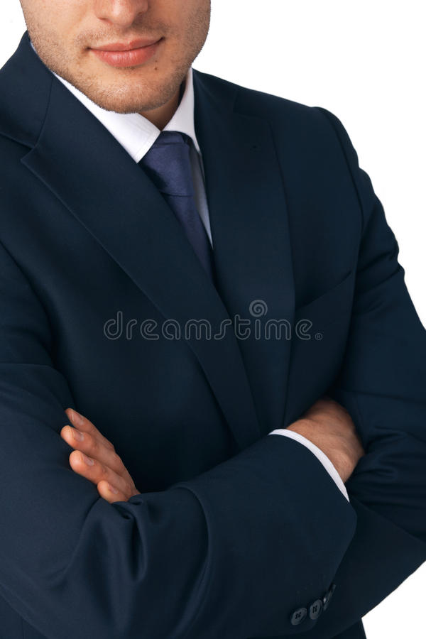 business man s hands folded