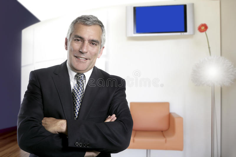 Download Business Man Senior Interior Office Modern Design Stock Photo - Image of gray, aged: 20200042