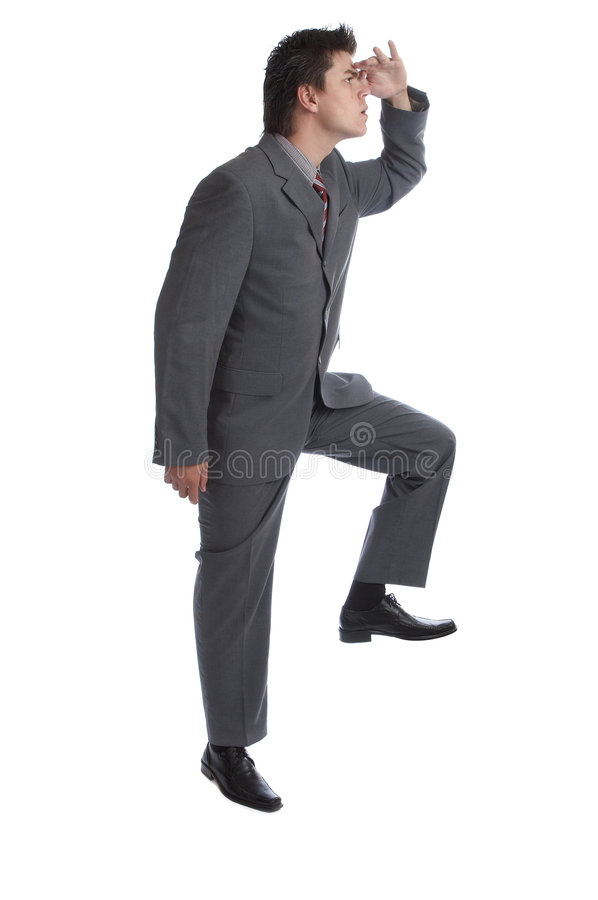 Business Man (the series). Business Man - holds his feet on something (put your text, object, etc royalty free stock image