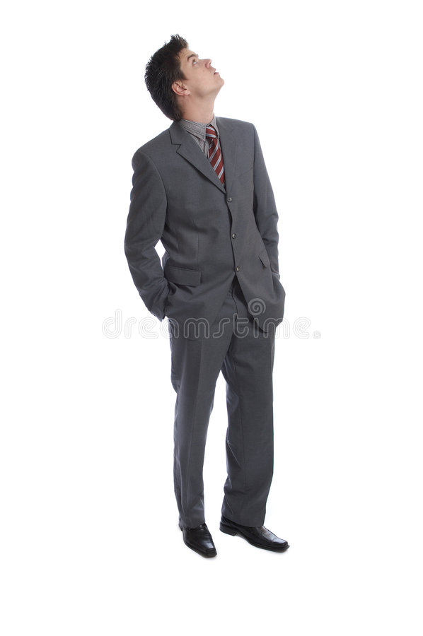 Business Man (the series). Business Man looking up D stock image