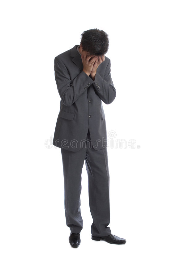 Business Man (the series). Business Man very sad D royalty free stock image