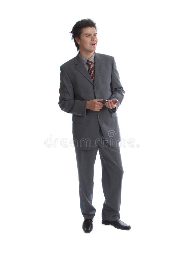 Business Man (the series). Business Man young and optimistic stock image