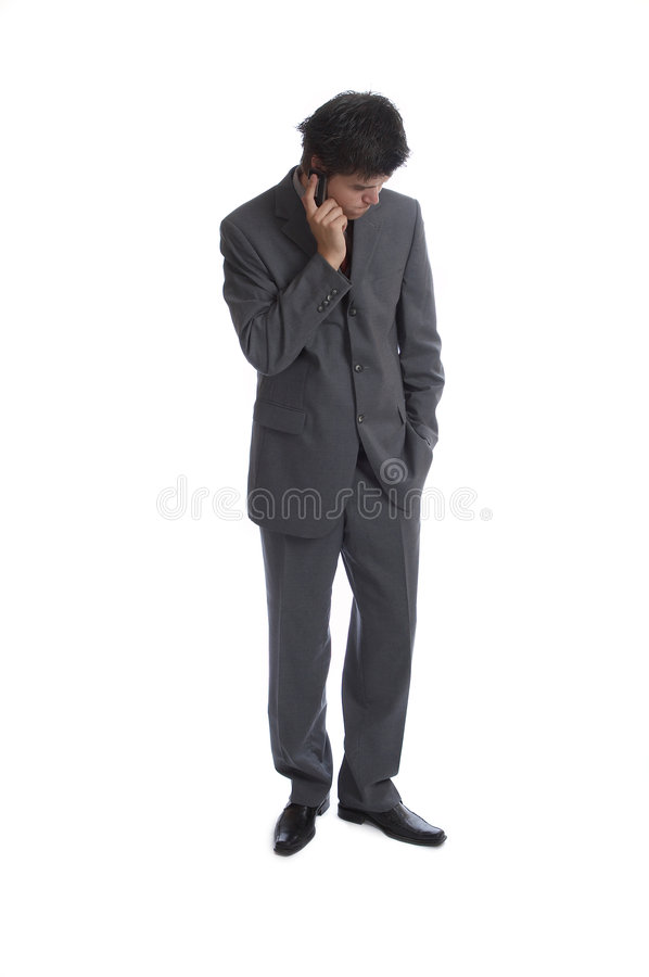 Business Man (the series). Business Man worried talking on the phone stock photography