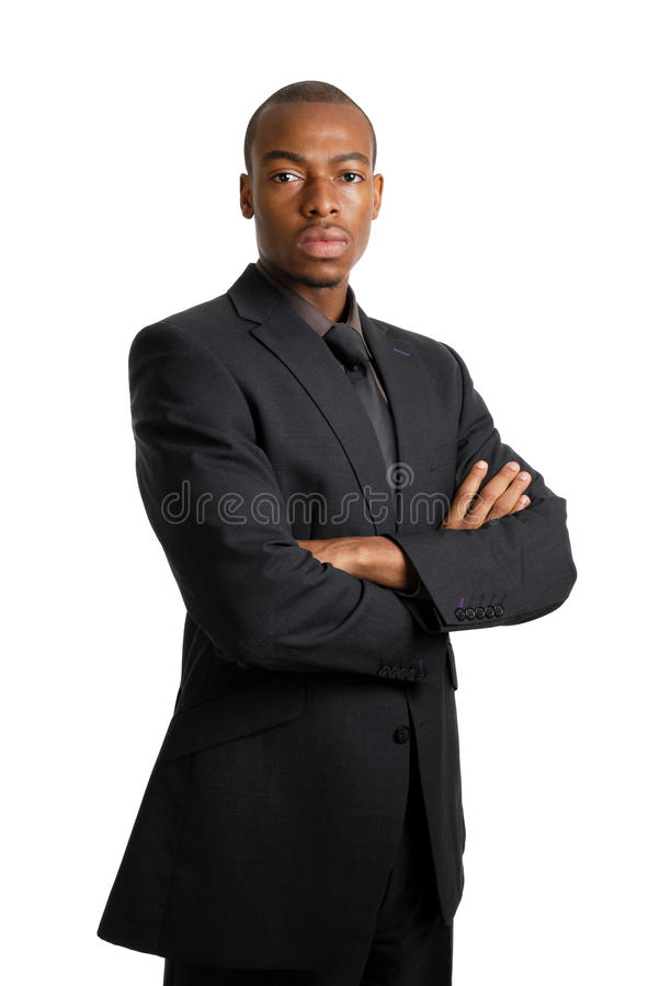 Business man with serious facial expression stock photo