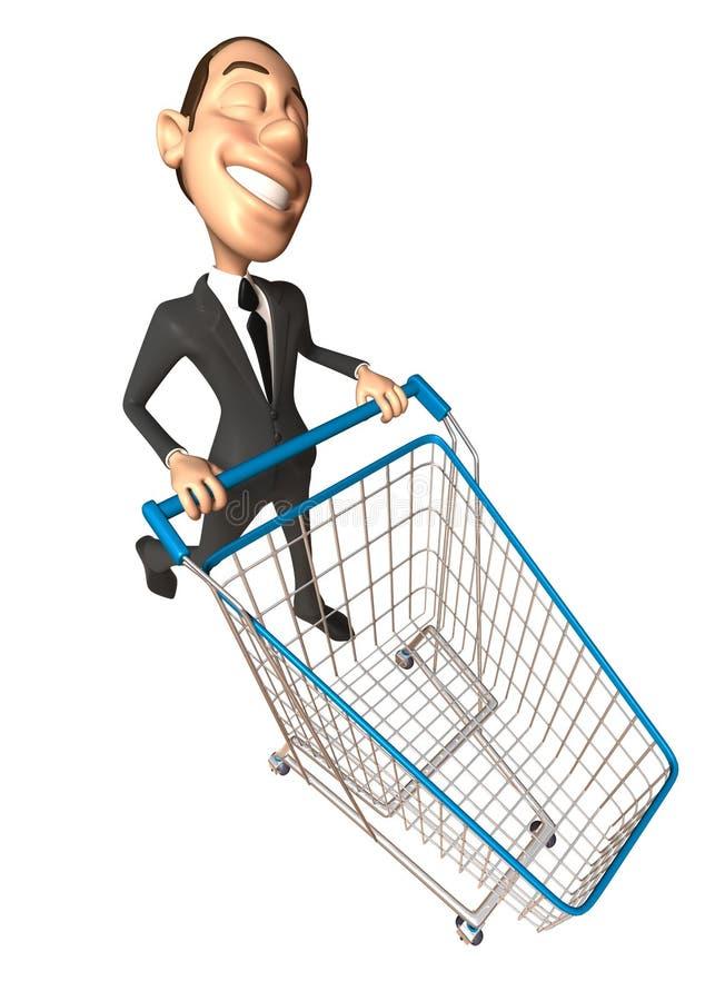 Business man shopping royalty free illustration