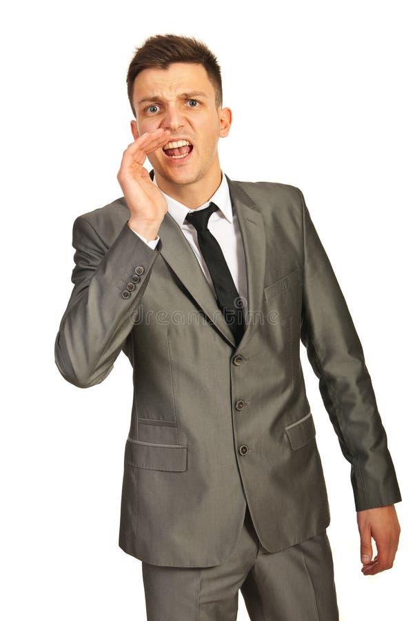 Download Business Man Shouting Royalty Free Stock Image - Image: 28542886