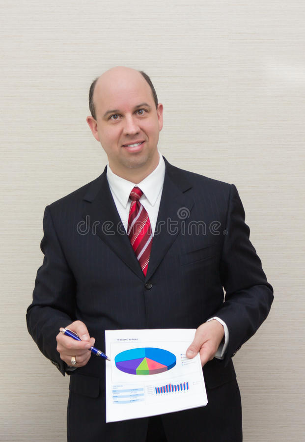 Download Business Man Showing A Document Stock Image - Image: 25452125
