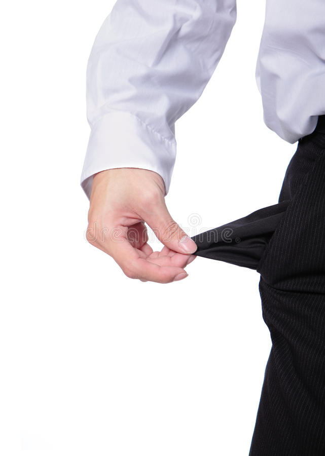 Download Business Man Showing Empty Pockets Stock Photo - Image: 28327948