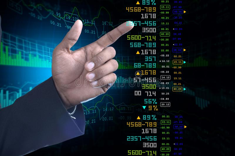 Business man showing the stock chart. Digital illustration of Business man showing the stock chart royalty free stock photos