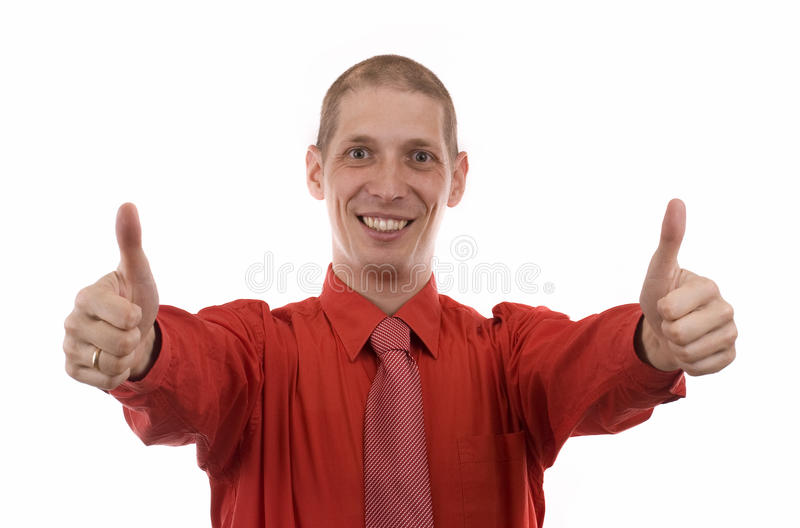 Download Business Man Showing Thumbs Up Sign Royalty Free Stock Images - Image: 17271489