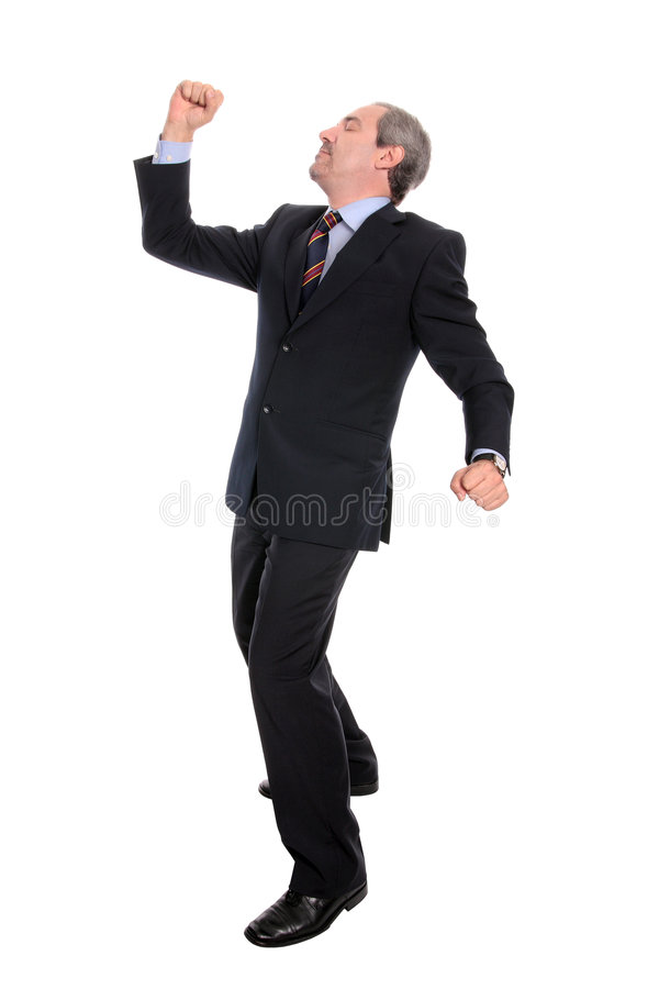 business man singing στοκ φωτογραφίες