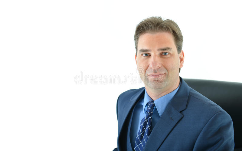 Download Business Man Sitting In A Chair Stock Image - Image of person, happy: 83719031